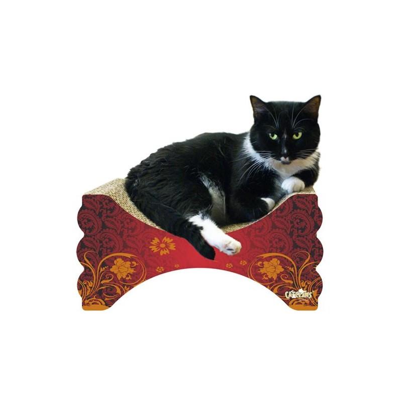 M a x rub n 39 lounge cardboard cat scratcher for Curved cat scratcher