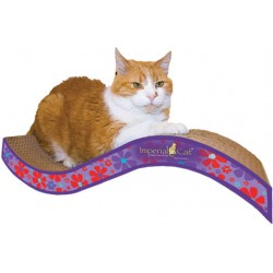 Imperial Cat Purrfect Stretch Scratch 'n Shape, Medium, Retro Purple Floral