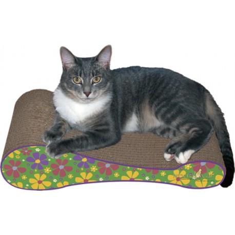 Imperial Cat The Sophia Scratch 'n Shape, Retro Green Floral