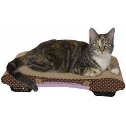 Imperial Cat Bella Scratch 'n Shape, Pink Polka Dot