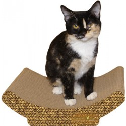 Imperial Cat Cozy Curl Scratch 'N Shape, Basket Weave Print
