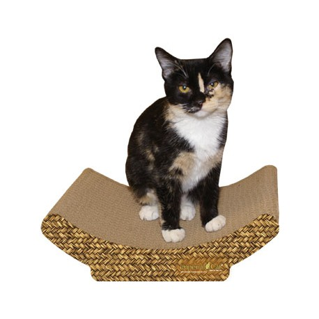 Imperial Cat Cozy Curl Scratch 'N Shape, Basket Weave Print