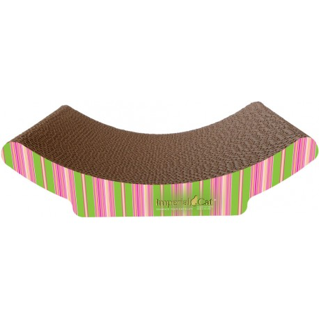 Imperial Cat Cozy Curl Scratch and Shape, Pink and Lime Stripe