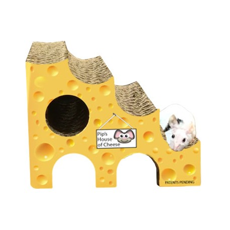 Allows small animals to Nibble, Climb & Hide throughout the holes!