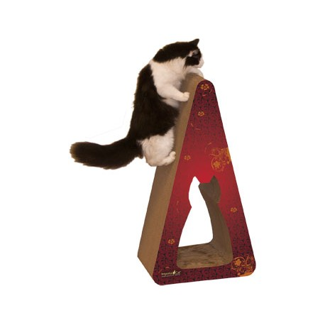 Imperial Cat Giant Pyramid Scratch 'n Shape, Modern Red