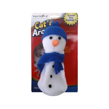 Imperial Cat Cat 'n Around, Sam Snowman, Refillable Catnip Toy