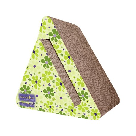 Imperial Cat Triangle Combo Scratch 'n Shape, Retro Lime Floral