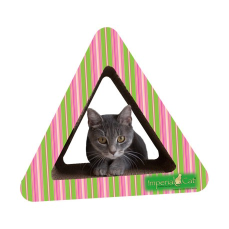 Imperial Cat Triangle Combo Scratch 'n Shape, Pink/Lime Stripe