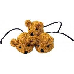 Imperial Cat Knit Catnip Trio Mice Toy