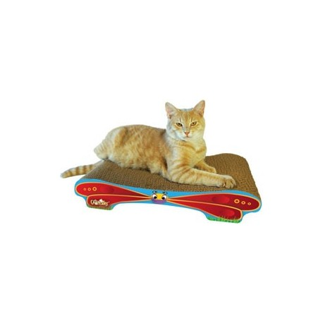 Sturdy scratcher made for scratching and relaxing