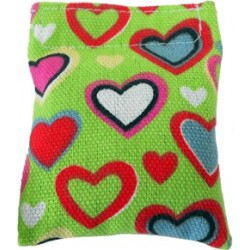 Cute heart pillow filled with catnip