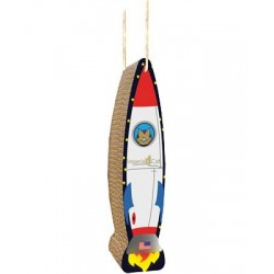 Blast off to fun with the hanging rocket scratcher!