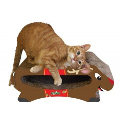 Your kitty will love to scratch and lounge on this scratcher!