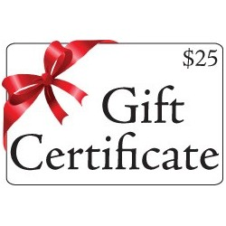 Gift Certificate valued at $25