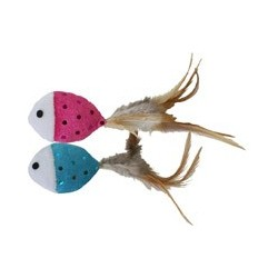Two adorable fish for your cat to attack!