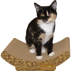 This cozy little shape is just right for kitty to curl up for a nap and provides months of scratching enjoyment